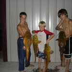 Boys showing of fish