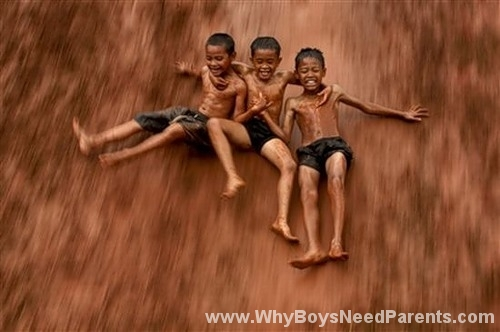 Boys Sliding Down ???