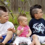 3 boy with mohawks