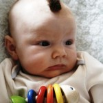 baby with mohawk