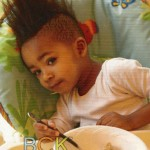 young black boy with mohawk