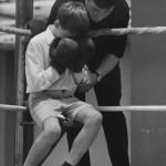 Boxer boy cries