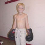 Blond Boy Boxing Gloves