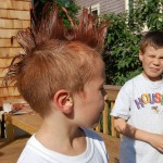 boy with fauxhawk