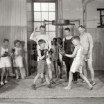Vintage photo boys boxing 006
