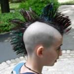 boy multicolor mohawk