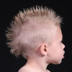 little boy with spiky mohawk
