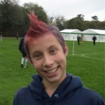 kid with red mohawk