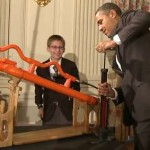 Obama And 14 Year Old Shoot Air Cannon In White House