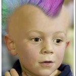 Photoshop kid with a mohawk