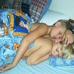 2 boys sleeping with Harry Potter sheet