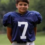 Andrew Robison youngest boy to ever throw a varsity high school touchdown Pass