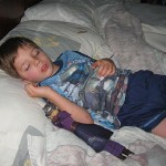 Boy Sleeping with Toy