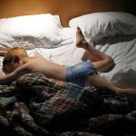Shirtless Ginger Boy Sleeping
