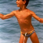 Speedo Boy At Beach