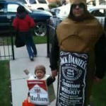 Funny Halloween Costumes - Boy Dressed As Marlboro Cigarette Pack