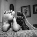 Boy Feet Dog Feet