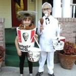 Funny Halloween Costumes - Boy Dressed As Colonel Sanders