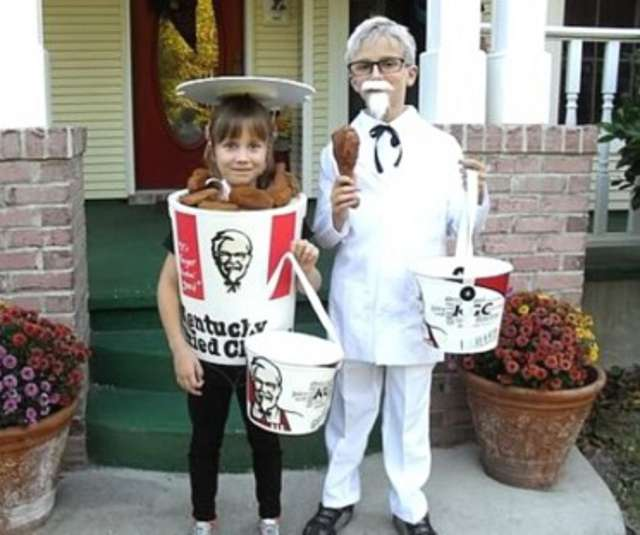 Funny Halloween Costume - Boy Dressed as Colonel Sanders