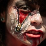 Zipper Face Makeup