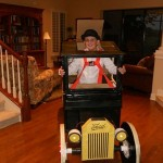 boy in model t costume