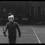 Scary Boy In Halloween Costume - Vintage