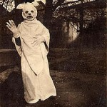 Boy In Halloween Costume - Vintage Photo