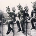 Boys Dressed Up As Devils - Vintage Halloween Photo