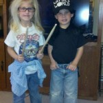 boys dressed as wayne's world