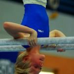 Gymnast Kid On Parallel Bars