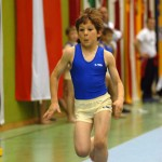 Boy Gets Running Start For Vault