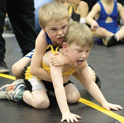 Young Kids Wrestling