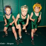 Fight Club Boys Pose Green Singlets