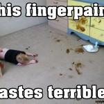 This Fingerpaint Tastes Terrible