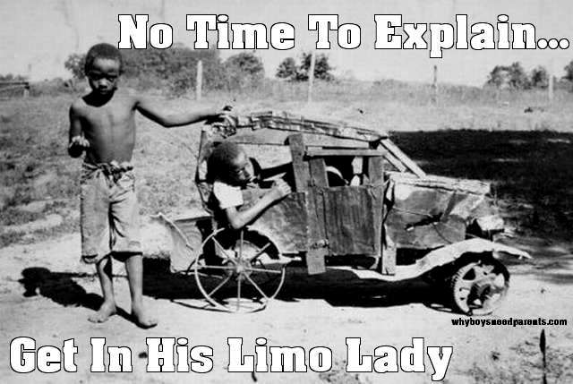 No Time To Explain - Get In Limo