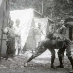 Vintage Boy Scouts Wrestle