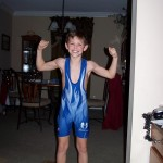 Wrestling Boy Blue Singlet