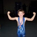 Wrestling Boy Blue Singlet 3