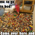 Boy has Lego mine field