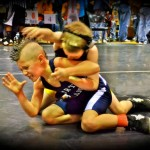 Boy with Mohawk Wrestling