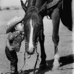 Boy Kissing Horse