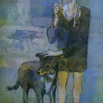 Picasso Painting - Boy With Dog