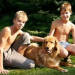 Boys With Pet Dog
