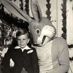 Boy wearing suit for Easter picture