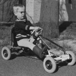 Boy On Go Kart Pedal Car - Vintage Picture