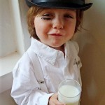 Boy dressed as Alex from A Clockwork Orange