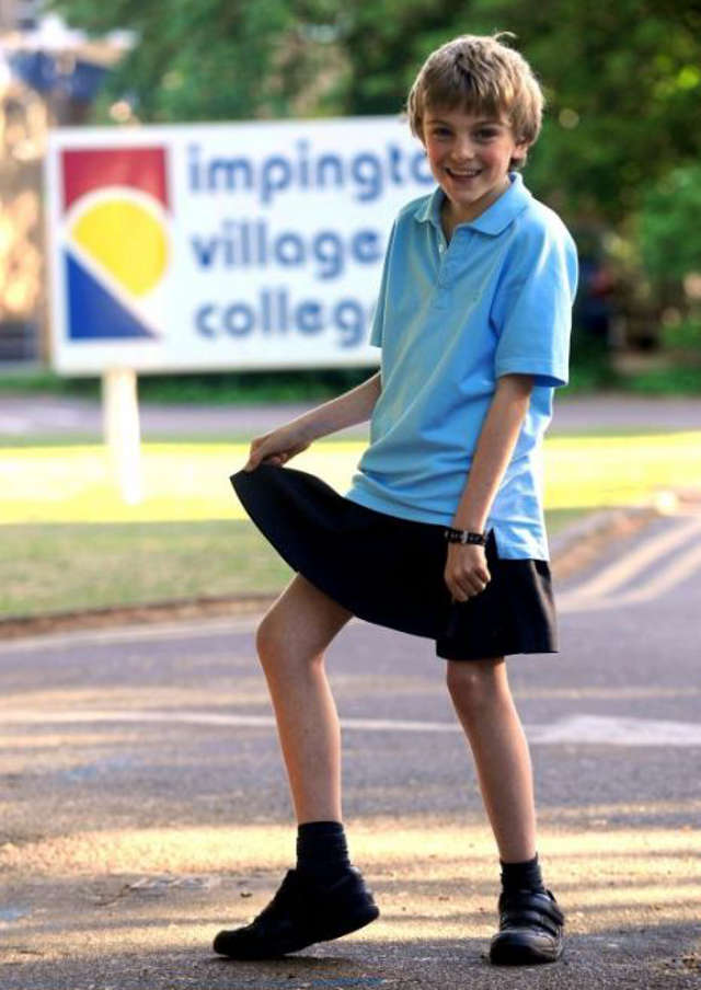 12 Year Old Chris Whitehead Wearing Skirt