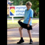 Boy Protests By Wearing Skirt