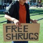 Boy Gives Free Shrugs