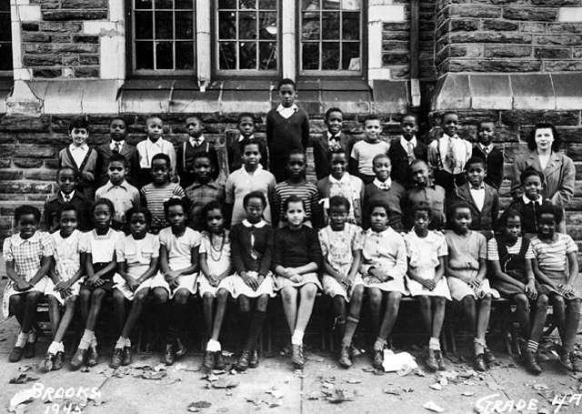 Wilt Chamberlain 4th Grade Class Photo